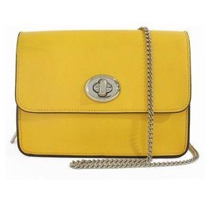 COACH Yellow Crossbody Turnlock Shoulder Handbag